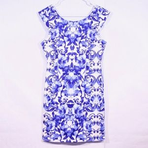 Forever 21 Blue Floral Mini Dress, Size M